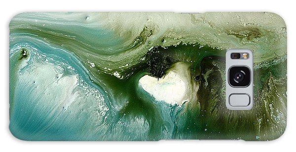 Echo Green Abstract Art By Kredart Galaxy Case