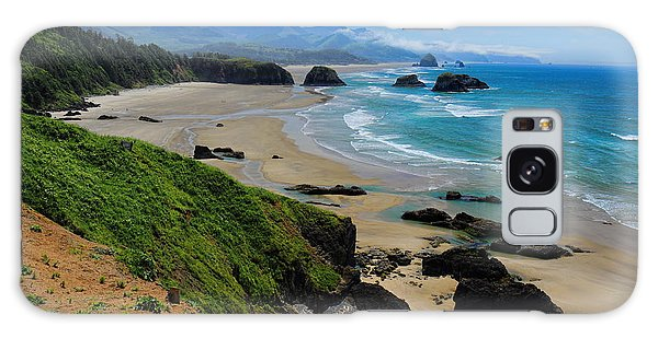 Ecola State Park Beach Galaxy Case