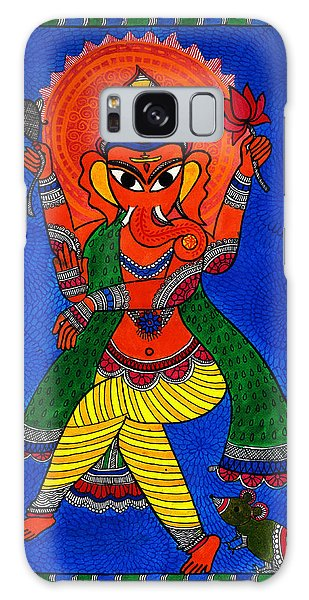 Madhubani Galaxy Case - Ecstatic Ganesha by Shishu Suman