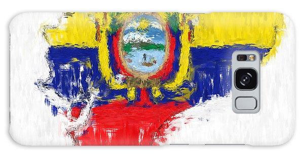 Ecuador Painted Flag Map Galaxy Case by Antony McAulay