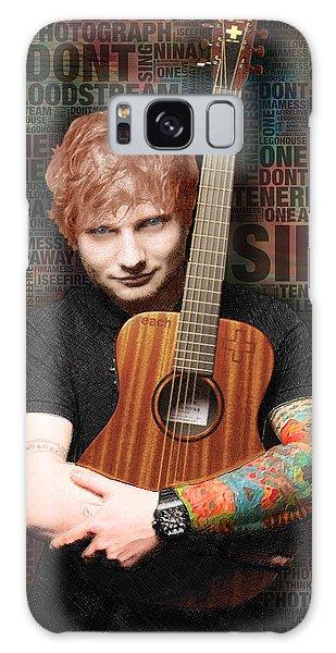 Ed Sheeran And Song Titles Galaxy Case by Tony Rubino