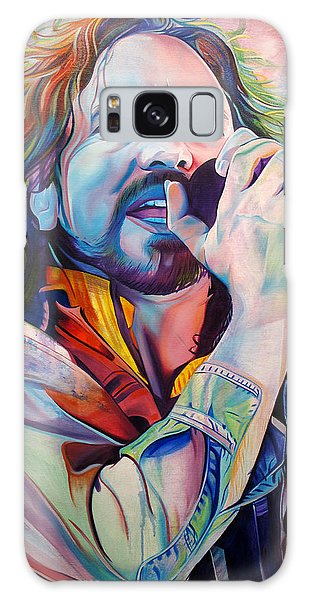 Eddie Vedder In Pink And Blue Galaxy Case