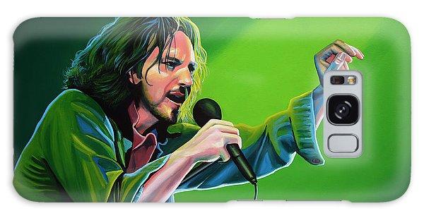 Eddie Vedder Of Pearl Jam Galaxy Case by Paul Meijering