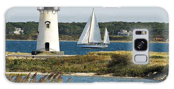Edgartown Light At Martha's Vineyard Galaxy Case