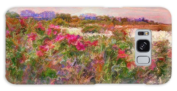 Edgartown Shoreline Roses - Horizontal  Galaxy Case