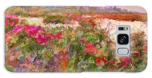 Edgartown Shoreline Roses - Square Galaxy Case