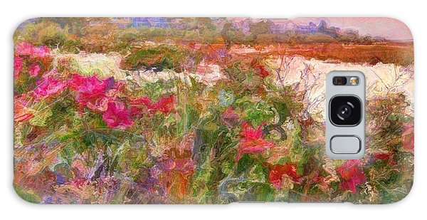 Edgartown Shoreline Roses - Square Galaxy Case