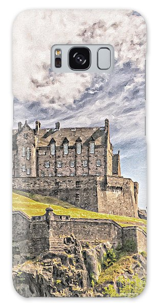 Edinburgh Castle Painting Galaxy Case