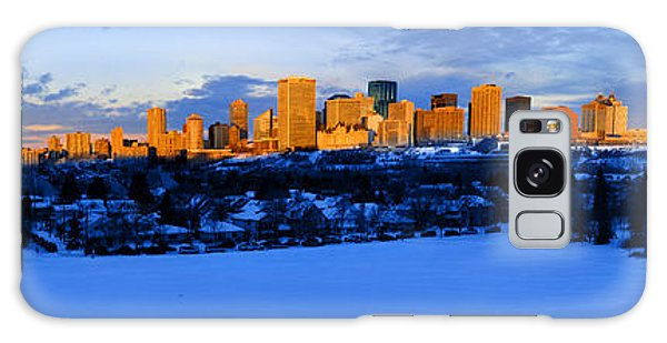 Edmonton Winter Skyline Panorama 1 Galaxy Case