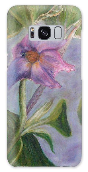 Eggplant Blossom Galaxy Case