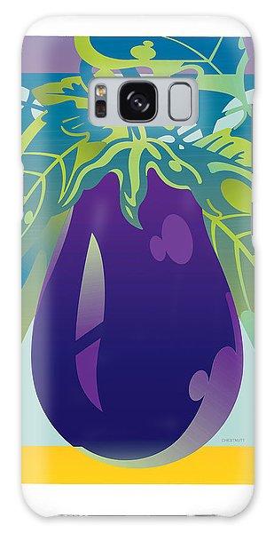 Eggplant Galaxy Case
