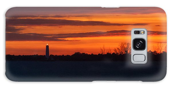 Egmont Key Lighthouse Sunset Galaxy Case