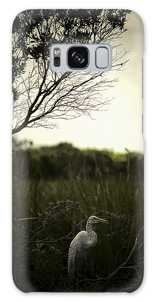 Egret At Sunset Galaxy Case by Bradley R Youngberg