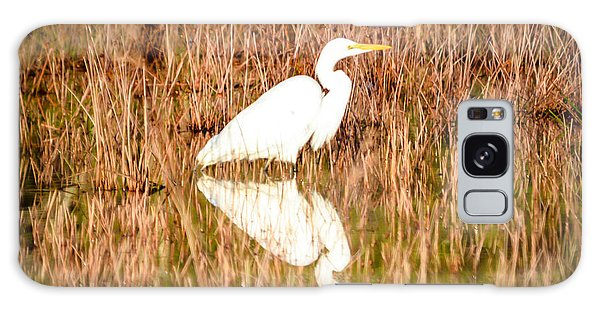 Egret Basking In The Morning Sun Galaxy Case