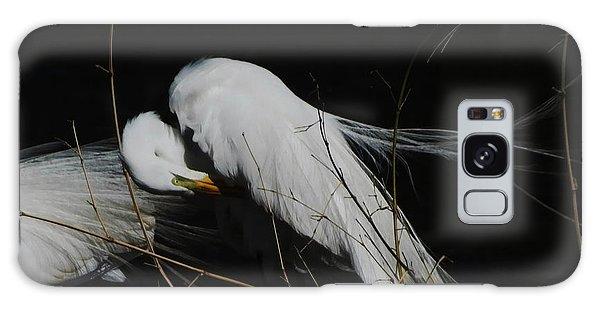 Egret Bird City At Avery Island Louisiana Galaxy Case