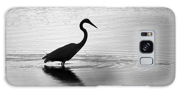 Egret In Bw Galaxy Case