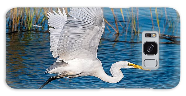 Egret In Motion Galaxy Case