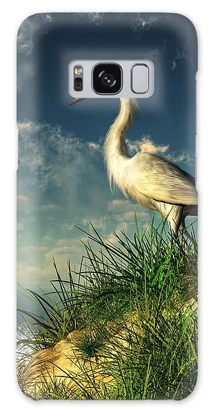 Egret In The Dunes Galaxy Case