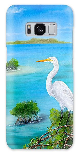 Egret In The Mangroves Galaxy Case