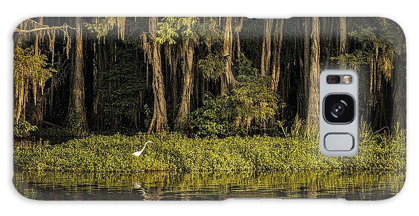 Egret On Caddo Lake Galaxy Case by Tamyra Ayles