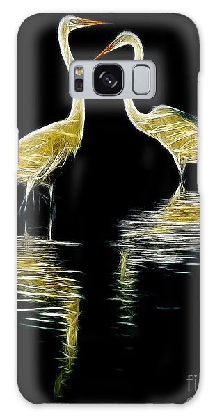 Egret Pair Galaxy Case by Jerry Fornarotto