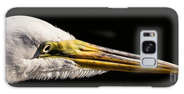 Egret Portrait Galaxy Case