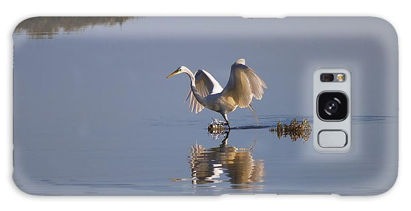 Egret Galaxy Case - Egret Reflections by Mike  Dawson