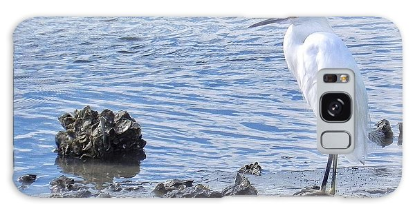 Egret Standing Perfectly Still Galaxy Case by Patricia Greer