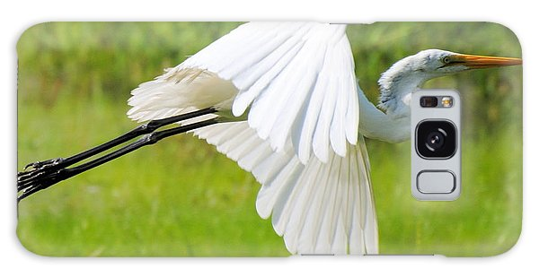 Egret Takes Flight Galaxy Case by Dan Williams