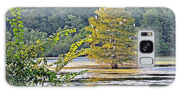 Egret Tree Galaxy Case