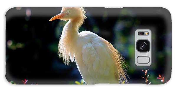 Egret With Back Lighting Galaxy Case