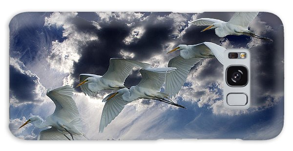 Egrets In Succession Galaxy Case