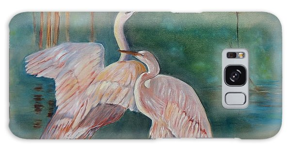 Egrets In The Mist Galaxy Case by Jenny Lee