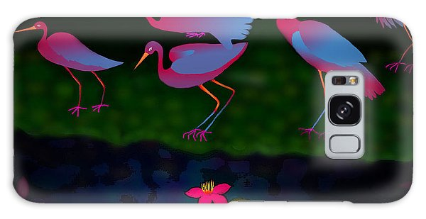 Egrets Galaxy Case