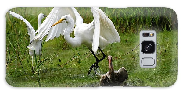 Egrets Taking Flight Galaxy Case by Dan Williams