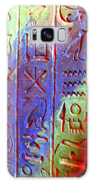 Egyptian Symbols Galaxy Case by Randall Weidner