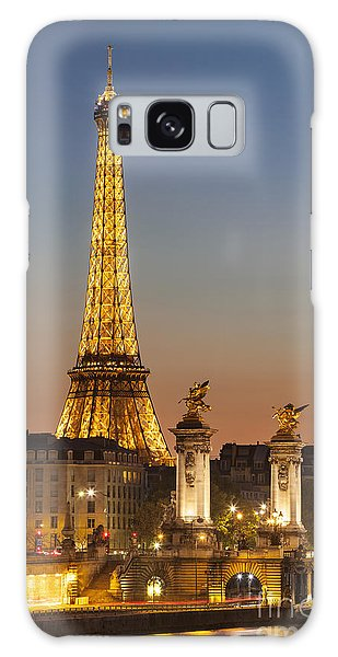 Eiffel At Twilight Galaxy Case