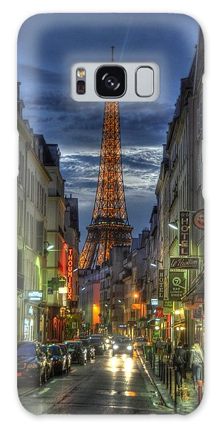 Eiffel Over Paris Galaxy Case
