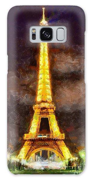 Eiffel Tower By Night Galaxy Case by Kai Saarto