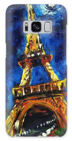 Eiffel Tower Galaxy Case by Carole Foret