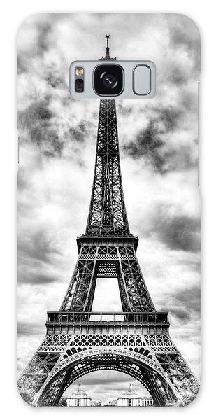 Eiffel Tower In Paris 3 Bw Galaxy Case