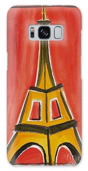 Eiffel Tower Orange And Yellow Galaxy Case