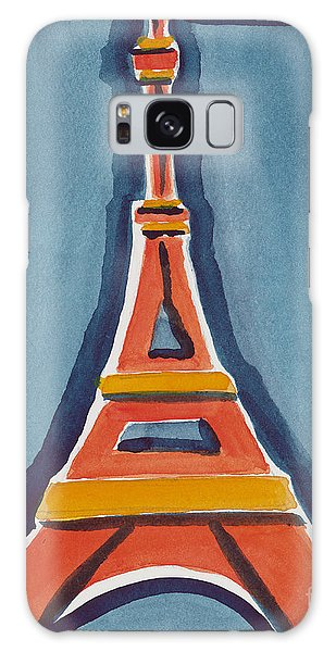 Eiffel Tower Orange Blue Galaxy Case