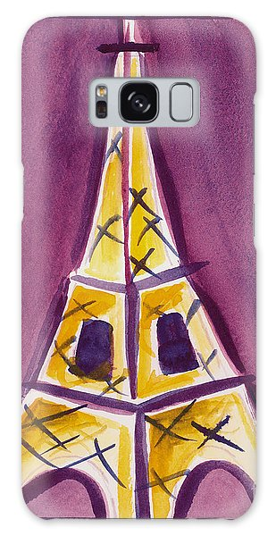 Eiffel Tower Purple And Yellow Galaxy Case