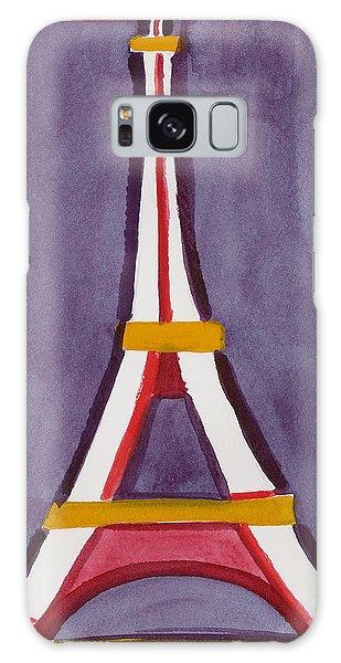 Eiffel Tower Purple Red Galaxy Case