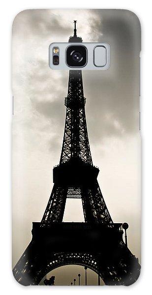 Eiffel Tower Silhouette Galaxy Case