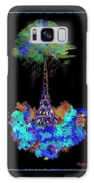 Eiffel Tower Topiary Galaxy Case by Paula Ayers