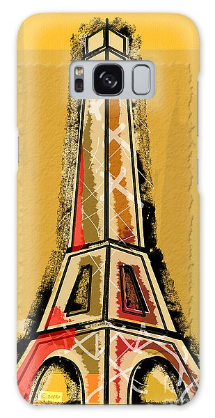 Eiffel Tower Yellow And Red Galaxy Case