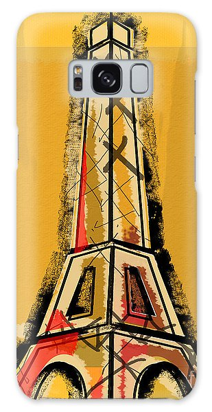 Eiffel Tower Yellow Black And Red Galaxy Case