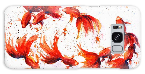 Eight Dancing Goldfish  Galaxy Case